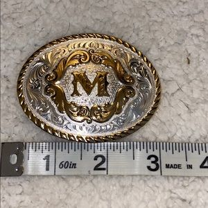 Belt Buckle with M on it